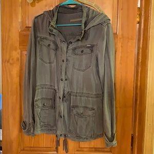 Light weight grey jean jacket